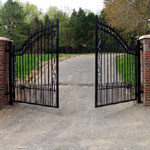 Automatic wrought iron gates, made to measure