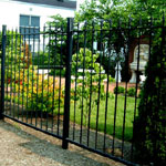Wrought iron fences and railings, made to measure