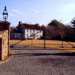Wrought iron security gates, made to measure