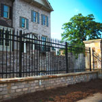 Wrought iron metal fencing, made to measure