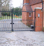 Bespoke wrought iron metal gates