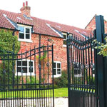 Wrought iron driveway gates, made to measure